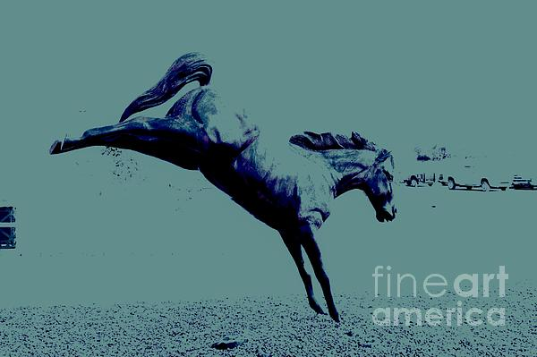 Horse Photograph - Purple Plunge by Denise Workheiser