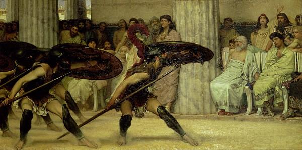 Pyrrhic Painting - Pyrrhic Dance by Sir Lawrence Alma-Tadema