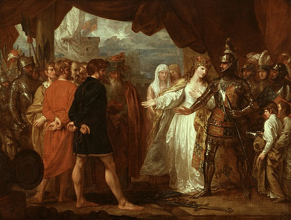 Queen Painting - Queen Philippa Interceding For The Lives Of The Burghers Of Calais by Benjamin West