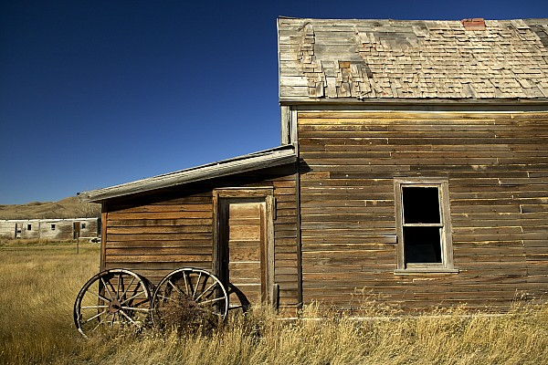 Day Photograph - Ranchers House In Prairie Semi-ghost by Pete Ryan