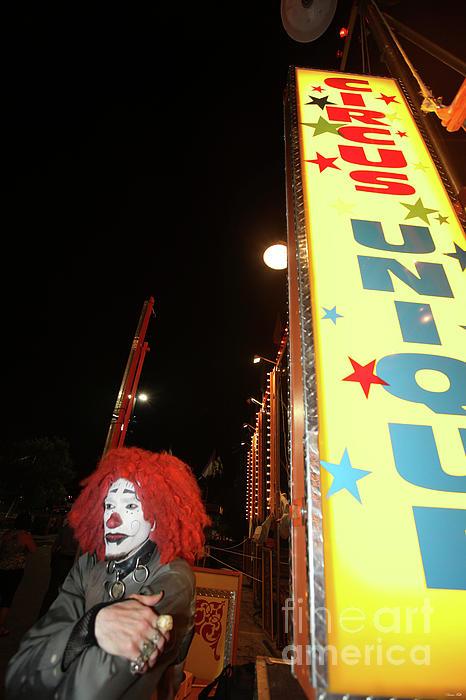 Rash The Clown  Photograph by Diane Falk