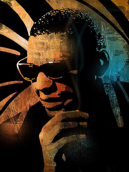 Blues Painting - Ray Charles by Paul Sachtleben