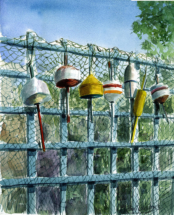 Marthas Vineyard Painting - Rays Fence by Paul Gardner