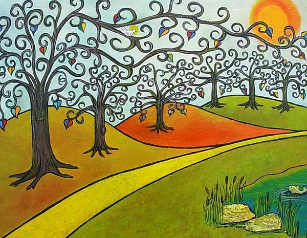 Trees Painting - Reaching Out by Sharon Lee Samyn
