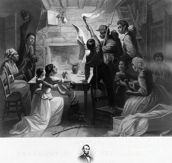 Historical Photograph - Reading Emancipation Proclamation by Photo Researchers