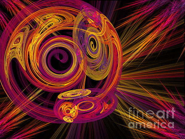 Fractal Digital Art - Record Time Machine by Andee Design