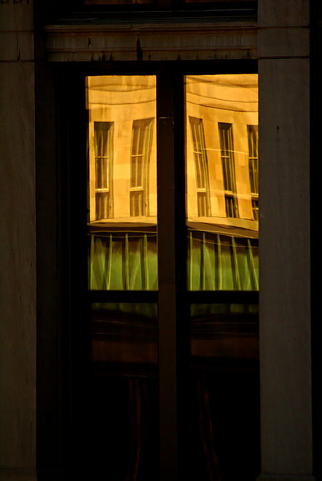 Yellow Photograph - Rectangular Reflection by Aimelle