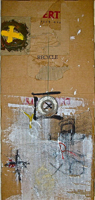 Abstract Paintings Painting - Recycle  by Cliff Spohn