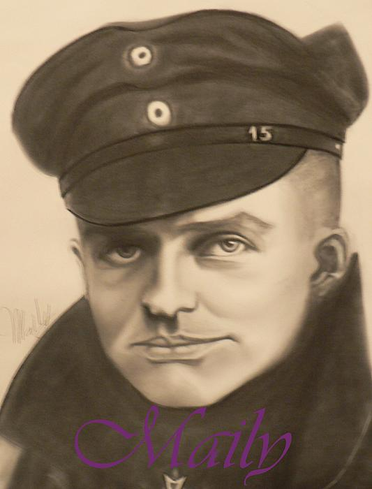 Manfred Richthophen Wwi Painting - Red Baron by Maily