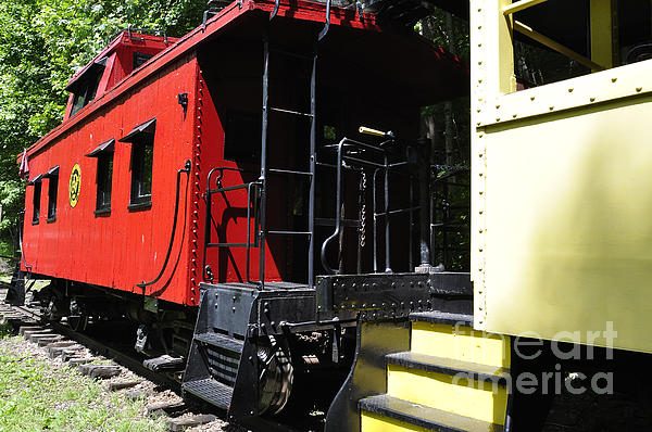Pocahontas County Photograph - Red Caboose by Thomas R Fletcher
