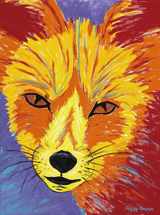 Fox Painting - Red Fox by Peggy Quinn