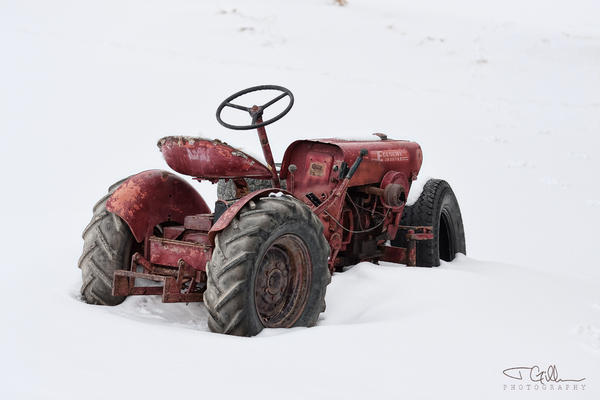 Tractor Photograph - Red by Joshua Gillum