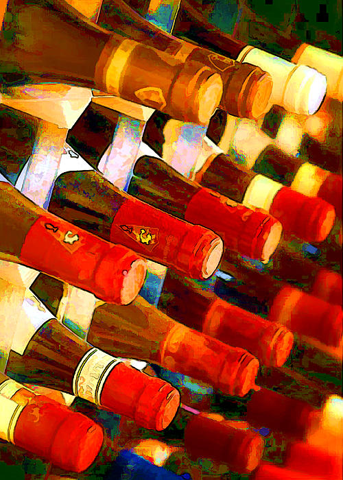 Wine Painting - Red Or White by Elaine Plesser