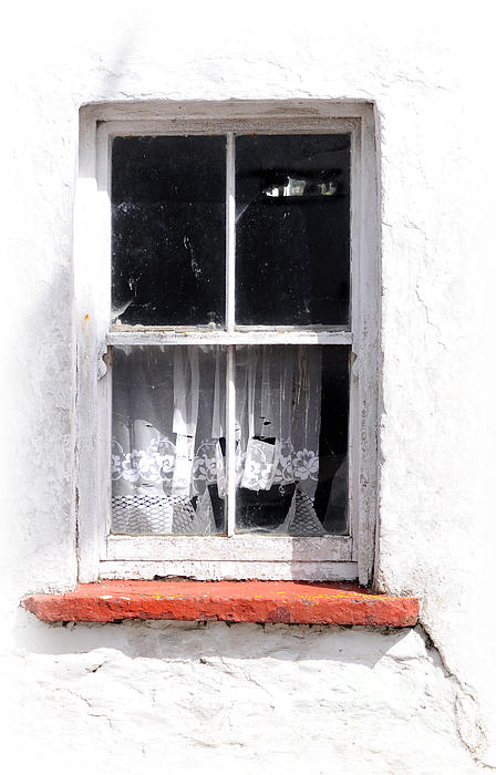 Window Photograph - Red Sill by Marion Galt