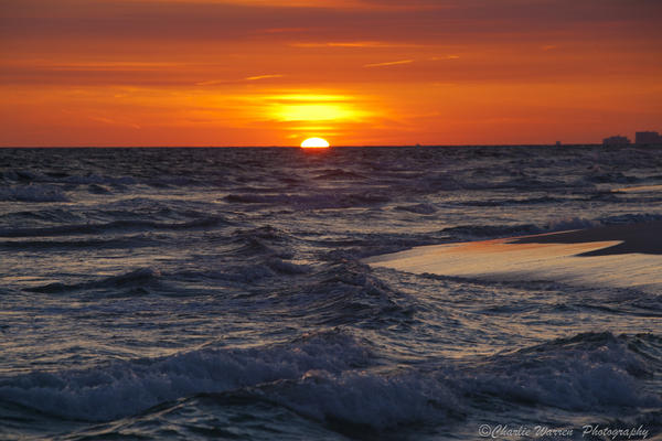 Sunset Photograph - Red Skies At Night by Charles Warren