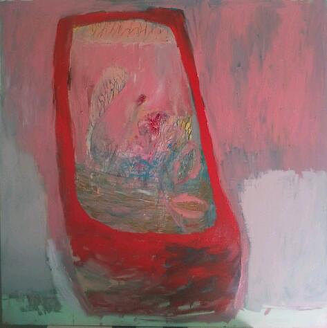 Red Vase Painting - Red Vase by Brooke Wandall