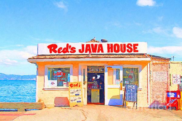 San Francisco Photograph - Reds Java House At San Francisco Embarcadero by Wingsdomain Art and Photography