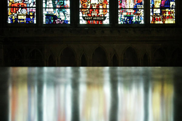 Stained Glass Photograph - Reflecting On The Beauty Of Canterbury Cathedral by Lisa Knechtel