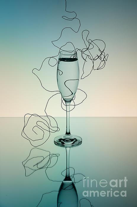 Glass Photograph - Reflection 03 by Nailia Schwarz
