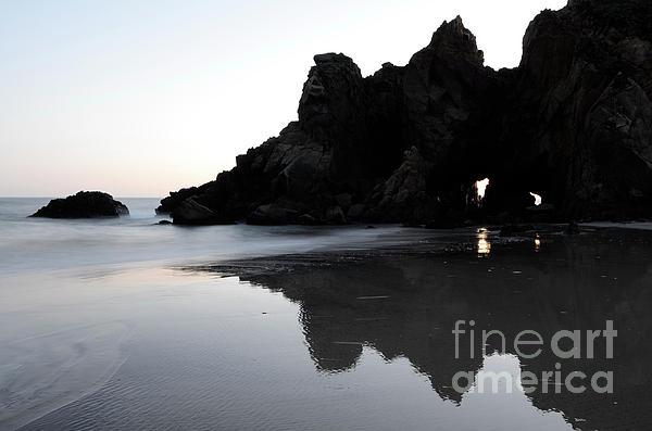 Pfeiffer Rock  Photograph - Reflections Big Sur by Bob Christopher