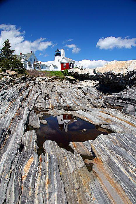 Lighthouse Photograph - Reflections Of Pemaquid by Brenda Giasson
