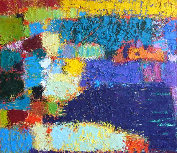 Abstract Painting - Reflections by Petro Lebedynets