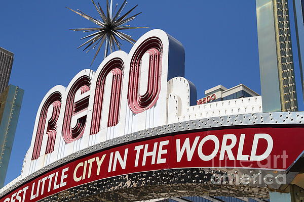 Reno Photograph - Reno . The Biggest Little City In The World by Wingsdomain Art and Photography