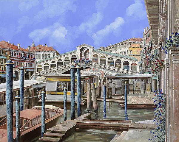 Landscape Painting - Rialto Dal Lato Opposto by Guido Borelli
