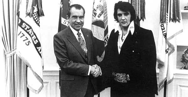 1970s Photograph - Richard Nixon Meets With Elvis Presely by Everett