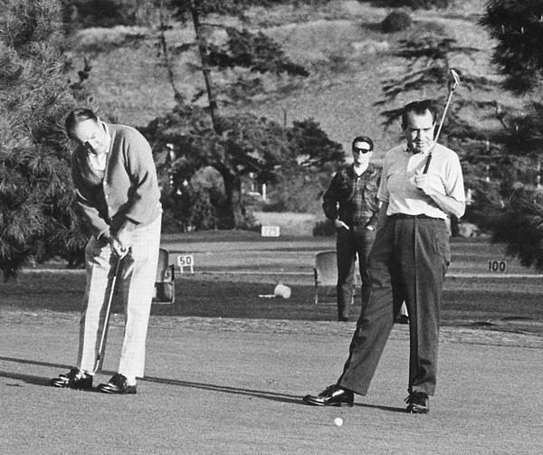 History Photograph - Richard Nixon Playing Golf by Everett