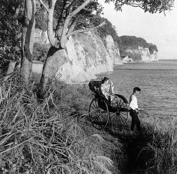 Rickshaw By The Negishi Seashore Photograph by Everett