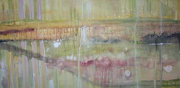 Abstract Landscape And Other Images Painting - River Of Passion by Otis L Stanley