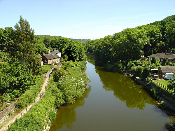 Reflections Photograph - River Severn From The Iron Bridge by Rod Johnson