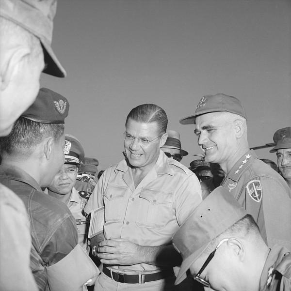 History Photograph - Robert Mcnamara And General by Everett