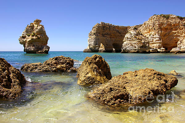 Algarve Photograph - Rocky Coast by Carlos Caetano