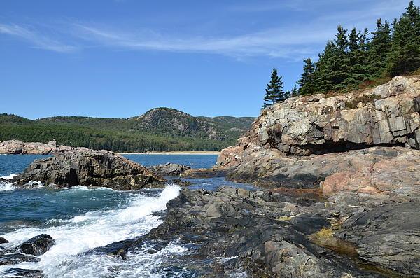 Rocky Maine Coast Landscape Acadia National Park