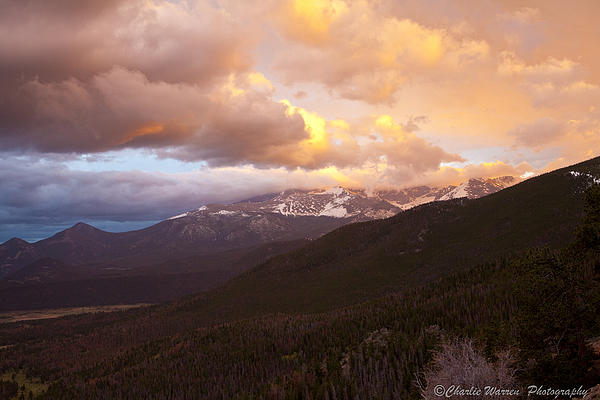 Rocky Mountains Photograph - Rocky Mountain Sunset by Charles Warren