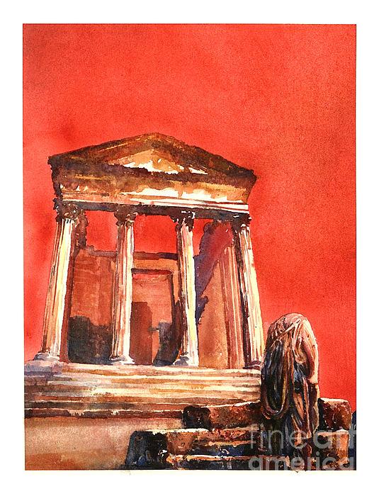 Africa Painting - Roman Ruins- Tunisia by Ryan Fox