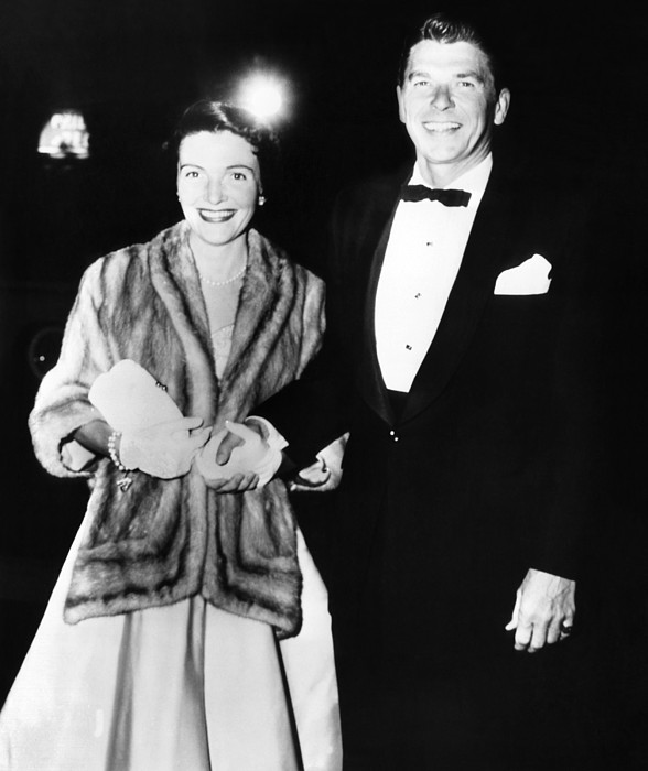 History Photograph - Ronald And Nancy Reagan Attended by Everett