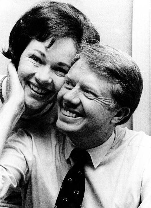 Photograph - Rosalynn Carter And Jimmy Carter Watch by Everett