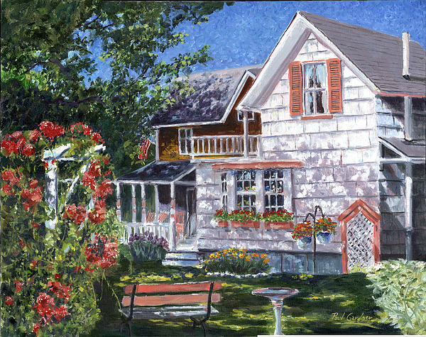 Landscape Painting - Rosas Garden by Paul Gardner
