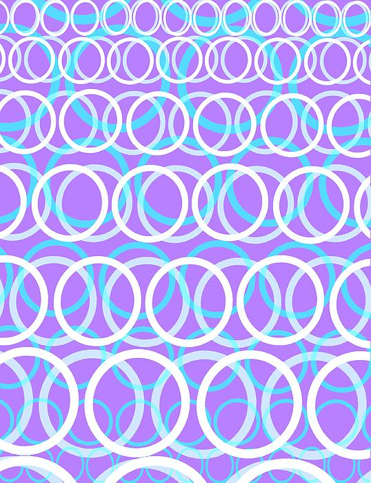 Circle Digital Art - Round Cirlces by Louisa Knight