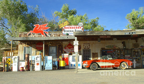 Classic Car Photograph - Route 66 Hackberry Arizona by Bob Christopher