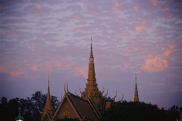 Housing Photograph - Royal Palace Rooftop At Dawn, Phnom by Steve Raymer