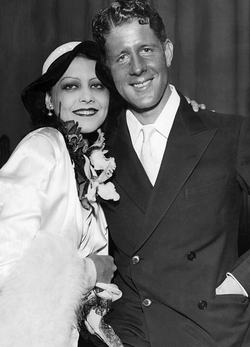 1930s Photograph - Rudy Vallee Right, And His Wife, Fay by Everett