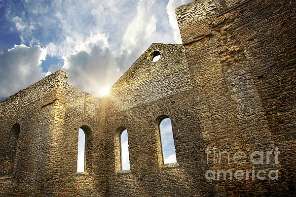 Architecture Photograph - Ruins Of A Church In South Glengarry by Sandra Cunningham