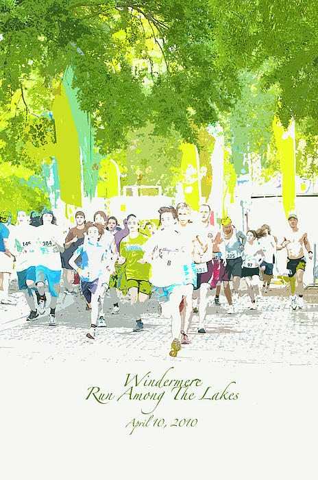 Windermere Photograph - Run Walk Poster by Pete Rems