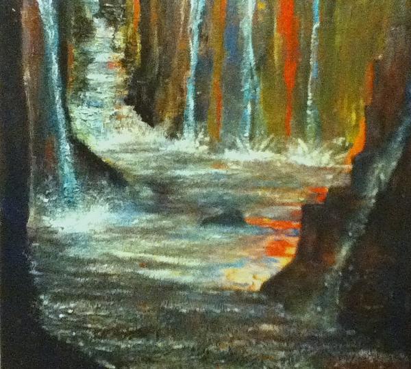Water Painting - Rush by Richard  Hubal