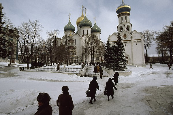 Russia Photograph - Russian Women, Dressed In Black, Walk by James L. Stanfield
