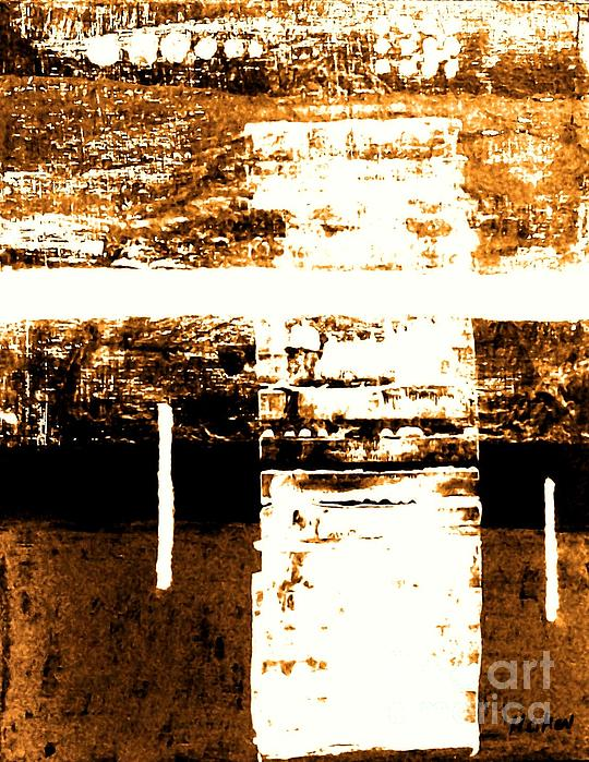 Abstract Painting - Rustic Modern by Marsha Heiken